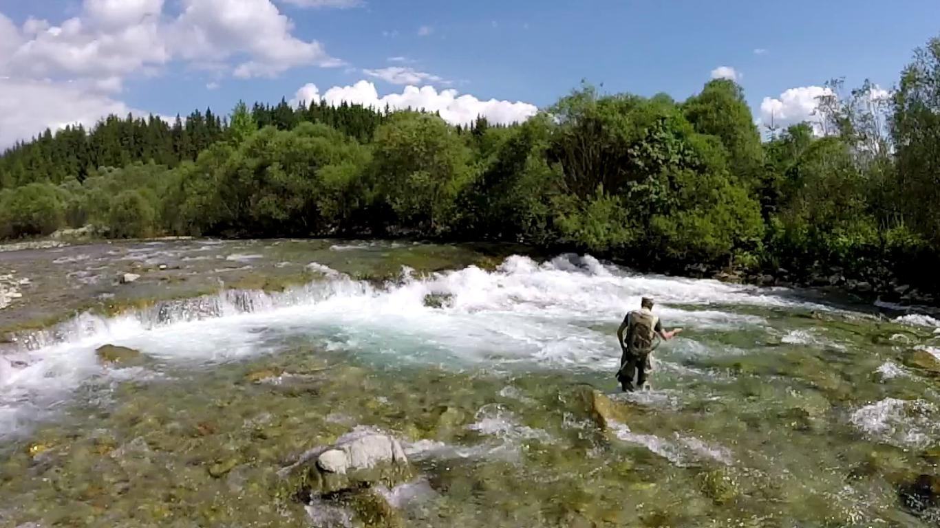 One day of flyfishing in Slovakia